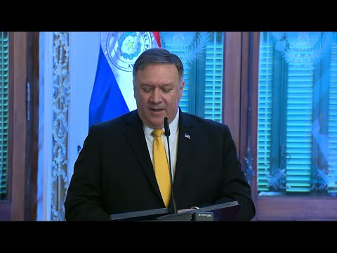 """U.S. Secretary of State Mike Pompeo called Venezuelan President Nicolás Maduro on Saturday a """"tyrant"""" who has caused the ruin of the South American country and its people. (April 13)"""
