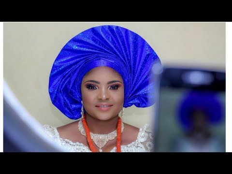 Nigerian Delta Bride Traditional MakeUP + Outfit + How to Tie Fan Gele