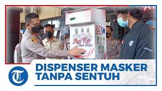 Inovasi 3 Mahasiswa FT Universitas Brawijaya, Ciptakan Dispenser Masker Tanpa Sentuh di Malang