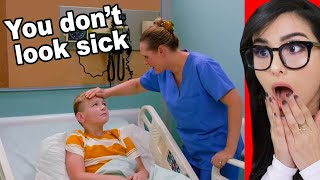 Kid Fakes Being Sick To Stay Out Of School