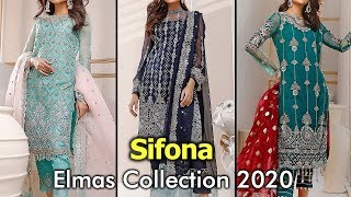 New SIFONA (ELMAS) Chiffon Suits 2020 With Prices | Embroidered Chiffon Dresses In Pakistan