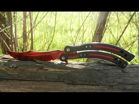 IRL Slaughter Red Butterfly Knife Unboxing/Review