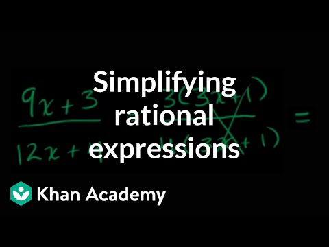 A thumbnail for: Rational expressions