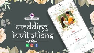 ✅ MV005 Modern Wedding Invitation Video Animation || Digital Wedding Invitation Video ||
