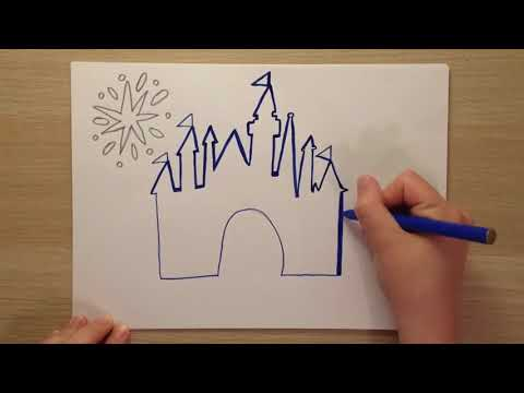 How to draw the Disney Castle ✏️✏️✏️ | Fun and easy drawings for kids ✏️✏️✏️
