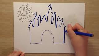 How To Draw The Disney Castle ✏️
