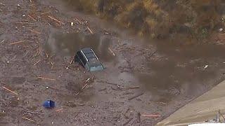 Dramatic rescues follow deadly California mudslides