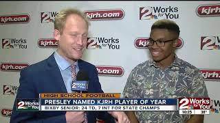 Bixby's Brennan Presley named FNL Player of the Year