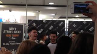 Stereo Kicks, Stereo Kicks Videos from their Oxford Street Signing in BHS