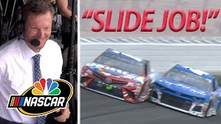 SLIDE JOB! Dale Jr., Kyle Busch, Kyle Larson revisit viral moment | Motorsports on NBC