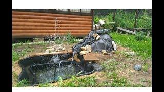 Садовый фонтан с насадками с алиэкспресс.Фонтан с LED подсветкой для бассейнов и прудов .