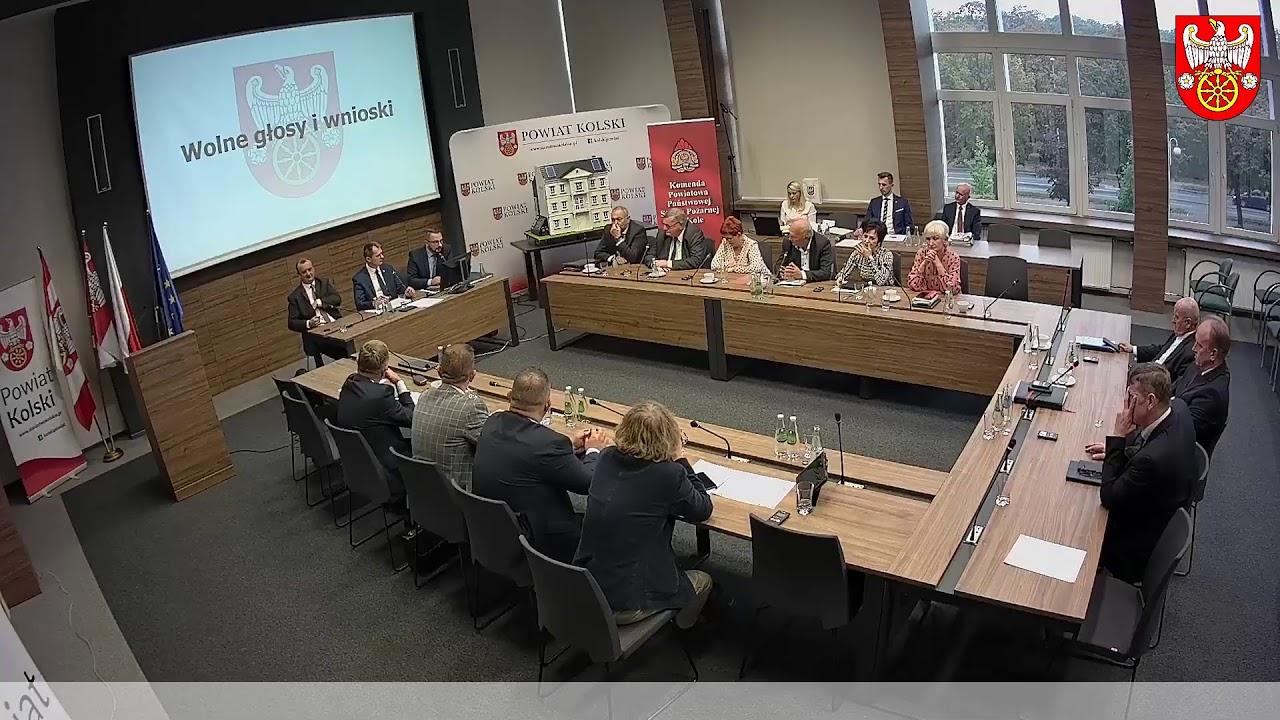 Zdjęcie do XVI Sesja Rady Powiatu Kolskiego