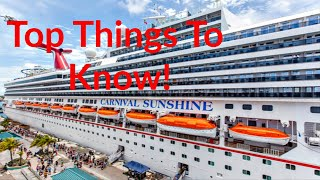TOP 10 things to know before going on a CRUISE!
