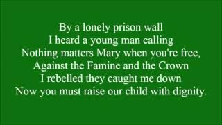 Fields of Athenry with lyrics