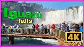 【4K】WALK BRAZIL & ARGENTINA Falls 4k video SLOW TV travel vlog
