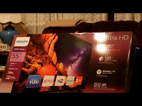 Philips Ultra HD 4k 5000 Series LED LCD Smart TV Unboxing Review Black Friday