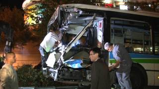 preview picture of video 'Accident de bus / Montigny-Le-Bretonneux (78) - France 17 septembre 2012'