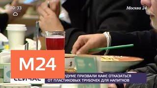 В Мосгордуме призвали кафе отказаться от пластиковых трубочек для напитков - Москва 24