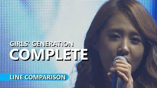 GIRLS' GENERATION 소녀시대  - COMPLETE w/o Jessica   Line Comparison