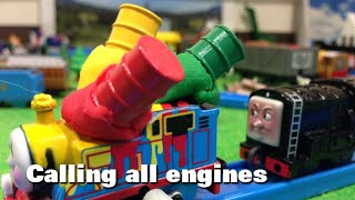 """トーマス プラレール ガチャガチャ みんなあつまれしゅっぱつしんこう Tomy Plarail Thomas """"Calling All Engines"""""""