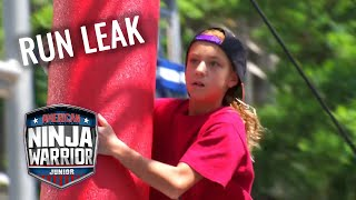 LEAKED RUN: Brooke Redman VS Callie Redman   American Ninja Warrior Junior   Universal Kids