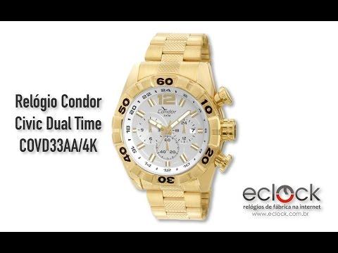 Relógio Condor Masculino Civic Dual Time COVD33AA 4K - Eclock f5b09f09ae