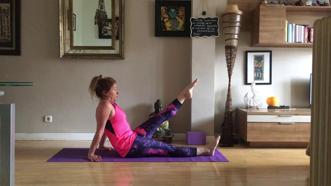Pilates piernas glúteos y espalda