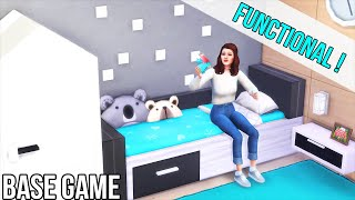 IKEA Style | FUNCTIONAL 🐣 Childrens Furniture | Base Game Tutorial | No CC Or Mods | The Sims 4