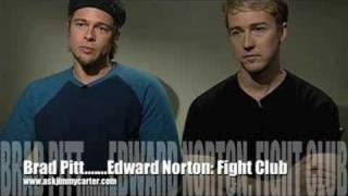 Brad Pitt and Edward Norton: The Fight Club