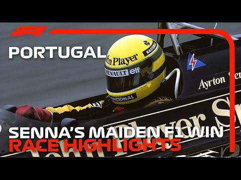 1985年にアイルトン・セナが激走したF1 ポルトガルGPのダイジェスト動画