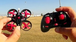 Redpawz R010 Cheap Ducted Fan Whoop Micro Drone Test Flight Review