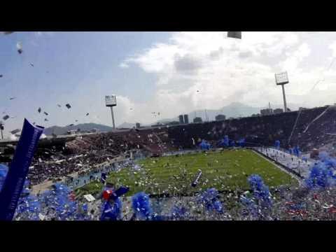 """""""RECIBIMIENTO LOS DE ABAJO - Universidad de Chile vs Colo Colo"""" Barra: Los de Abajo • Club: Universidad de Chile - La U"""