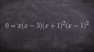 How to determine the zeros from a factored polynomial with multiplicity