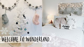 Decorating my College Apartment for Christmas + Shop w/ me