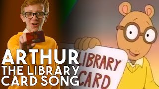 90s PBS Arthur - the Library Card Song In Real Life | a Working with Lemon's Throwback
