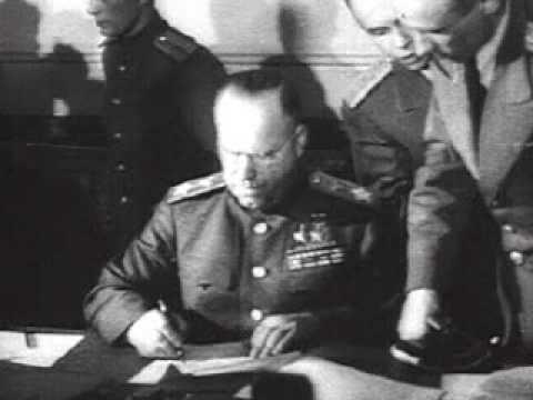 Подписание акта о безоговорочной капитуляции Германии / German Instrument of Sur...