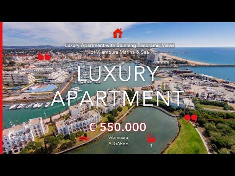 Vilamoura - Appartement de luxe d'une chambre avec vue sur la Marina et la Mer