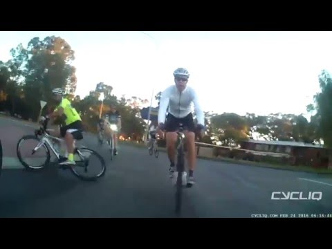 Perth IT Ride Roundabout Crash