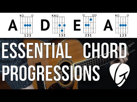 Chord Progression Practice - A D E A - Play TONS of songs with 3 Easy Guitar Chords