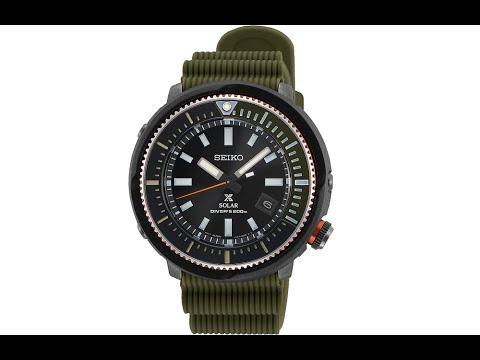 Seiko Prospex Street Series Retro Tuna Solar Divers Watch SNE547P1