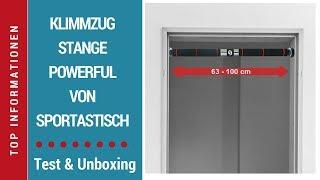 """► Unboxing- und Test-Video der Klimmzugstange """"Powerful"""" von Sportastisch auf Deutsch ☑"""