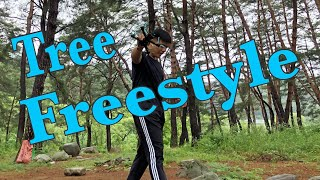 ????Tree Freestyle - Healing time in the pine forest /FPV 드론 프리스타일 소나무 숲속에서 힐링타임 FPV drone freestyle