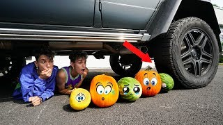 Crushing Crunchy & Soft Things by Car! EXPERIMENT: WATERMELON vs CAR