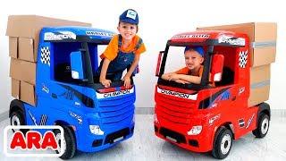 فلاد ونيكيتا مجموعة من مقاطع الفيديو حول سيارات الأطفال