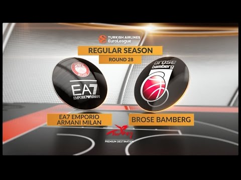 EuroLeague Highlights RS Round 28: EA7 Emporio Armani Milan 76-84 Brose Bamberg