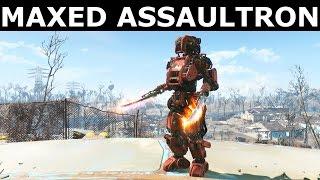 Fallout 4 Automatron - Maxed Assaultron Helping Settlements (Custom Robot Companion)
