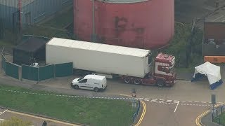 video: Essex lorry deaths: Police probe suspected Irish people-smuggling ring after 39 migrants found frozen to death