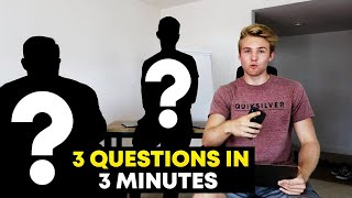 3 Questions with 3 Entrepreneurs in under 3 Minutes
