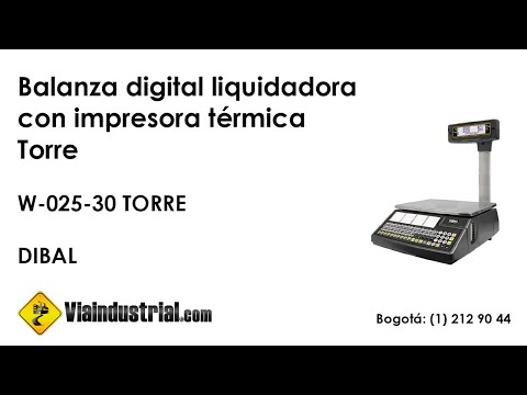 Balanza digital liquidadora con impresora térmica Torre