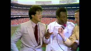 ABC Sports Soccer Bowl 80 Halftime with Pele and Sylvester Stallone Escape to Victory